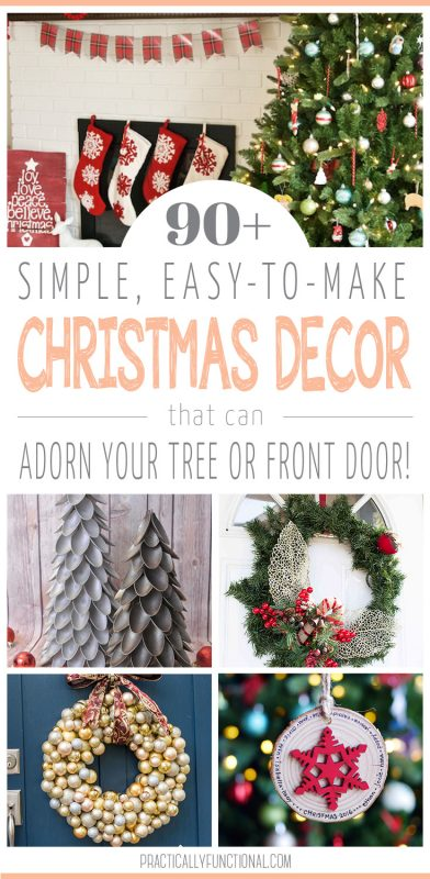 90+ simple christmas decor ideas for your christmas tree or front door