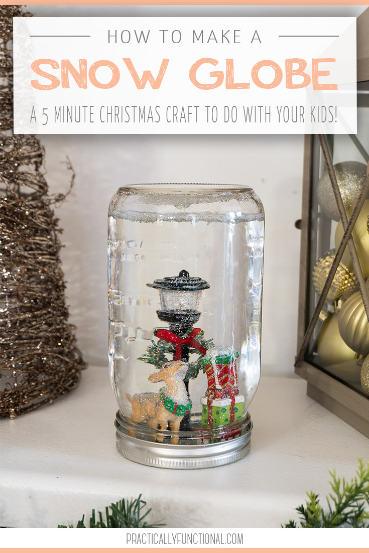 How to make an easy Christmas snow globe