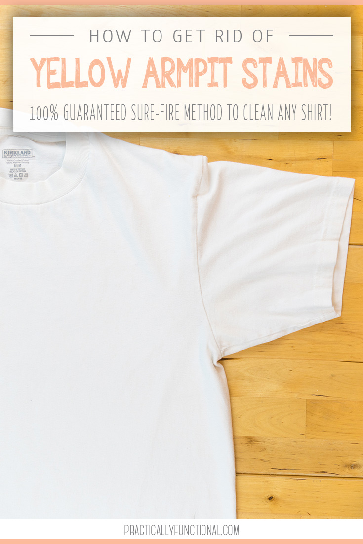 How to get sweat stains out of white shirts t shirt for Sweat stains on shirt