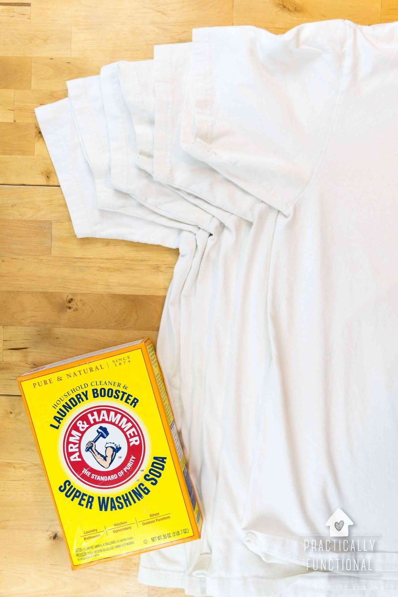 How to remove yellow sweat stains from your clothes the for Remove armpit stains from colored shirts