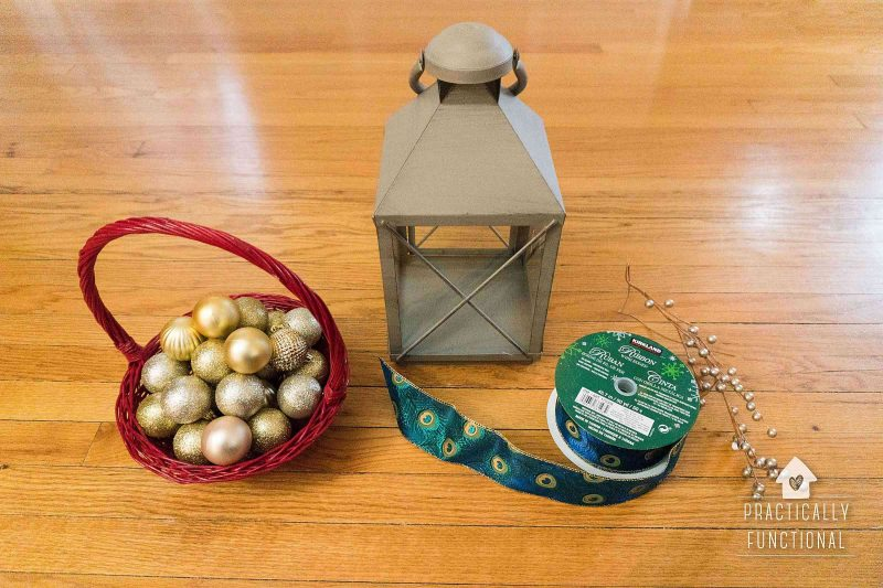 simple DIY Christmas lantern decoration