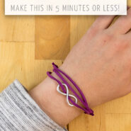 Learn how to make this cute essential oil diffuser bracelet with leather cord in less than five minutes!