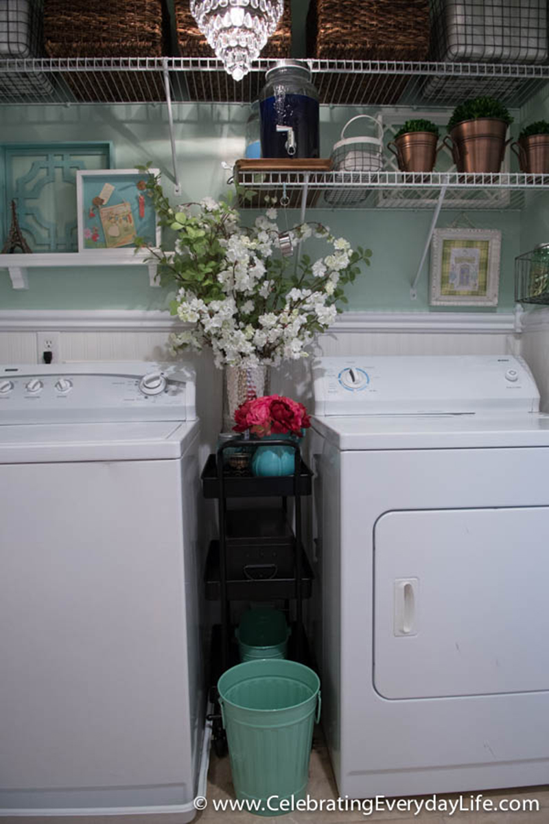 pretty and functional laundry room