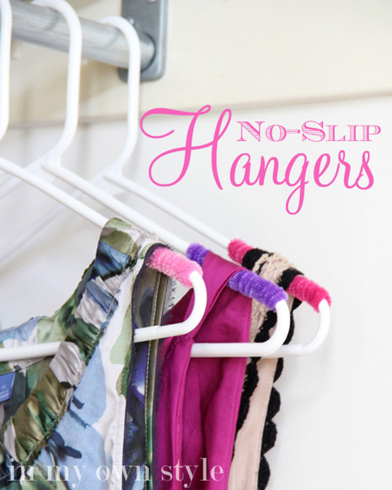 how to make your own no slip hangers