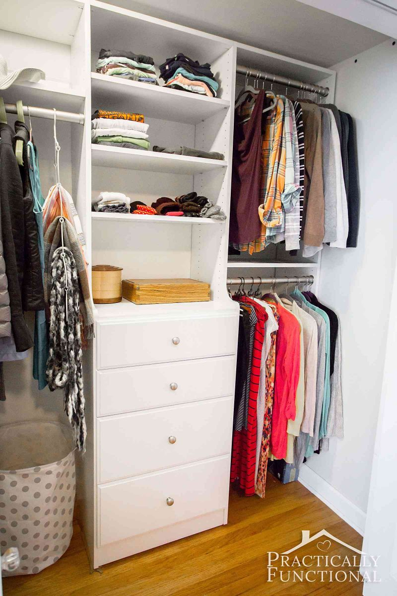 functional closet makeover