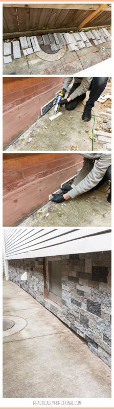 Tips for installing AirStone on an exterior foundation wall