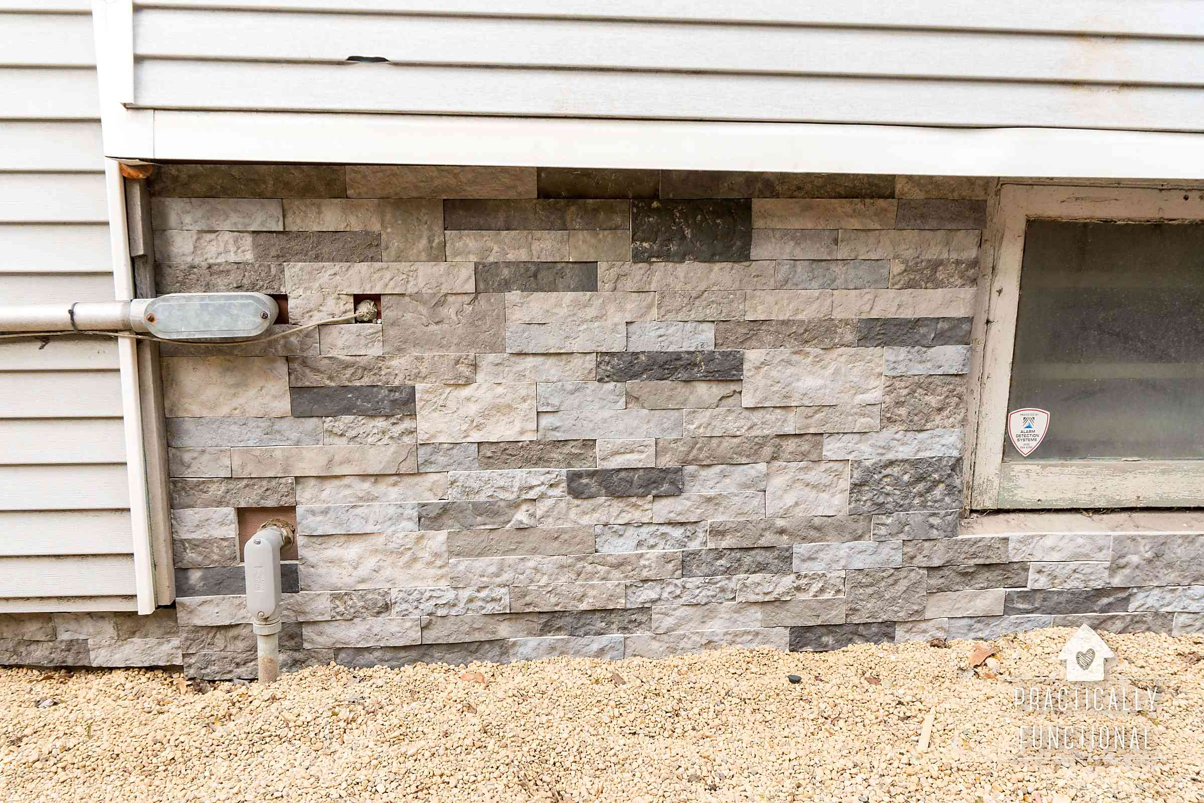 Tips For Installing Airstone On An Exterior Foundation Wall Practically Functional