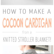 Cozy up this winter in a blanket turned DIY cocoon cardigan! This DIY is easy and takes just minutes - make it with your favorite blanket!