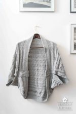 Turn A Blanket Into A DIY Cocoon Cardigan