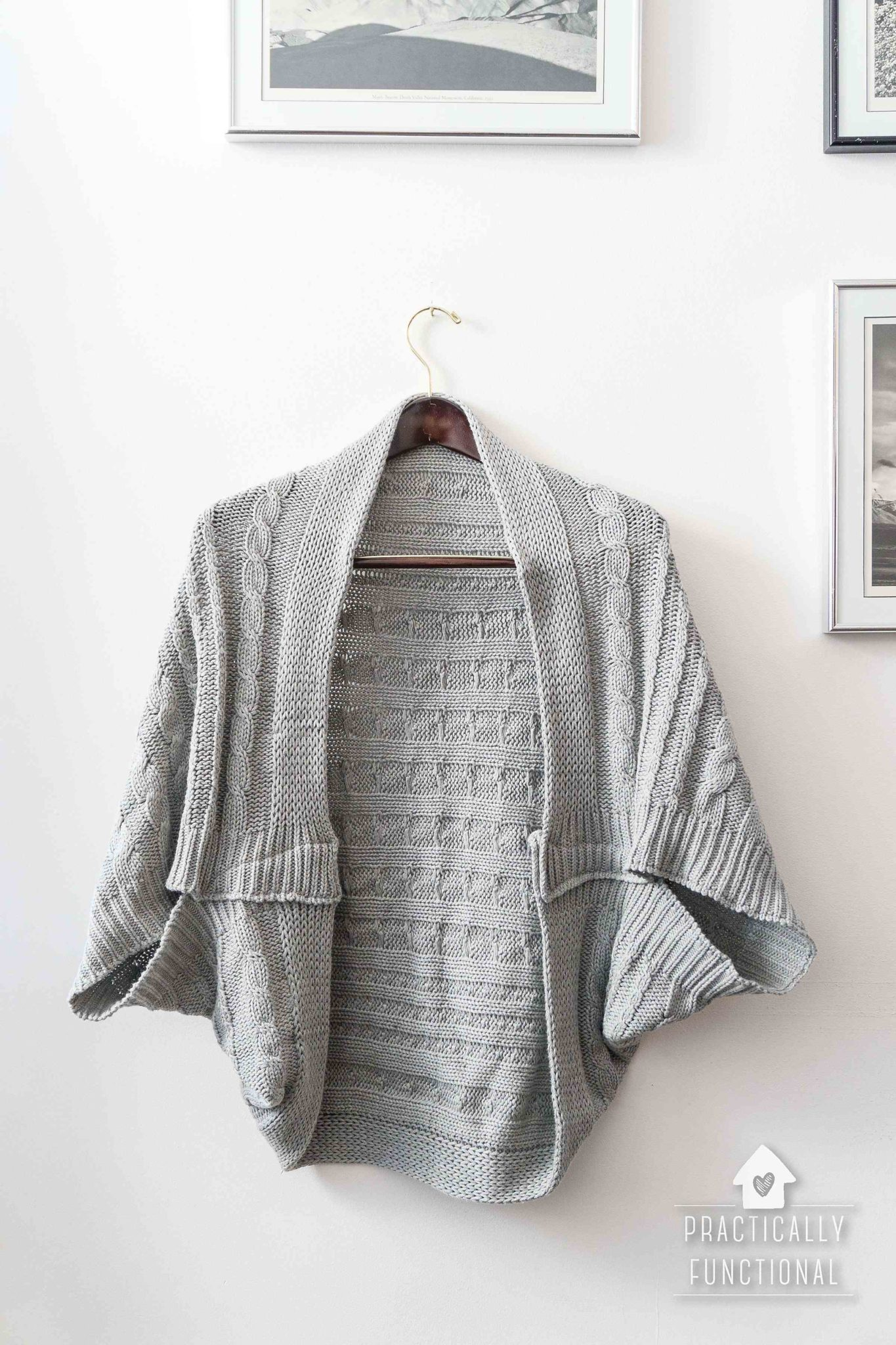 Turn A Blanket Into A DIY Cocoon Cardigan – Practically Functional
