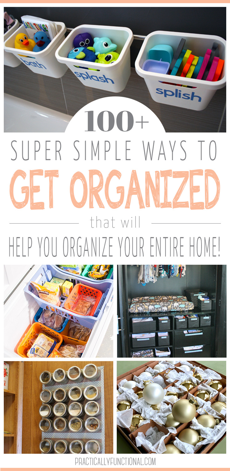 100+ Clever Organizing Ideas
