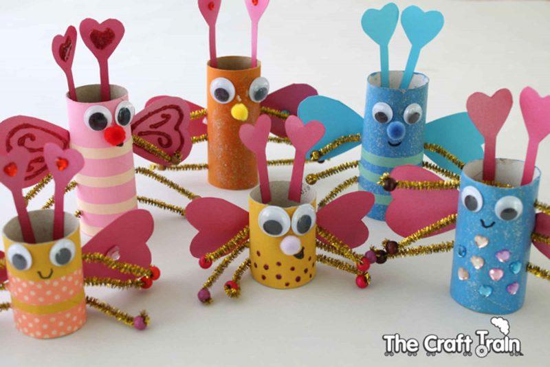 Paper tube love bugs
