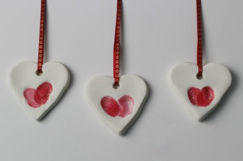 Valentine's Day thumbprint keepsake