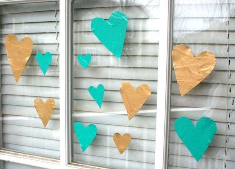 Easy Valentine's Day window clings
