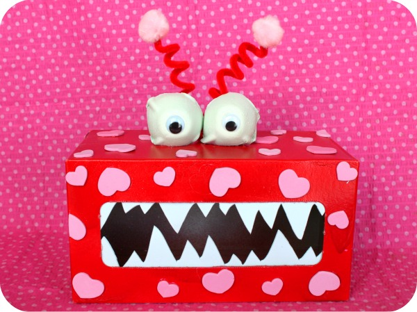 Valentine's Day tissue box monster