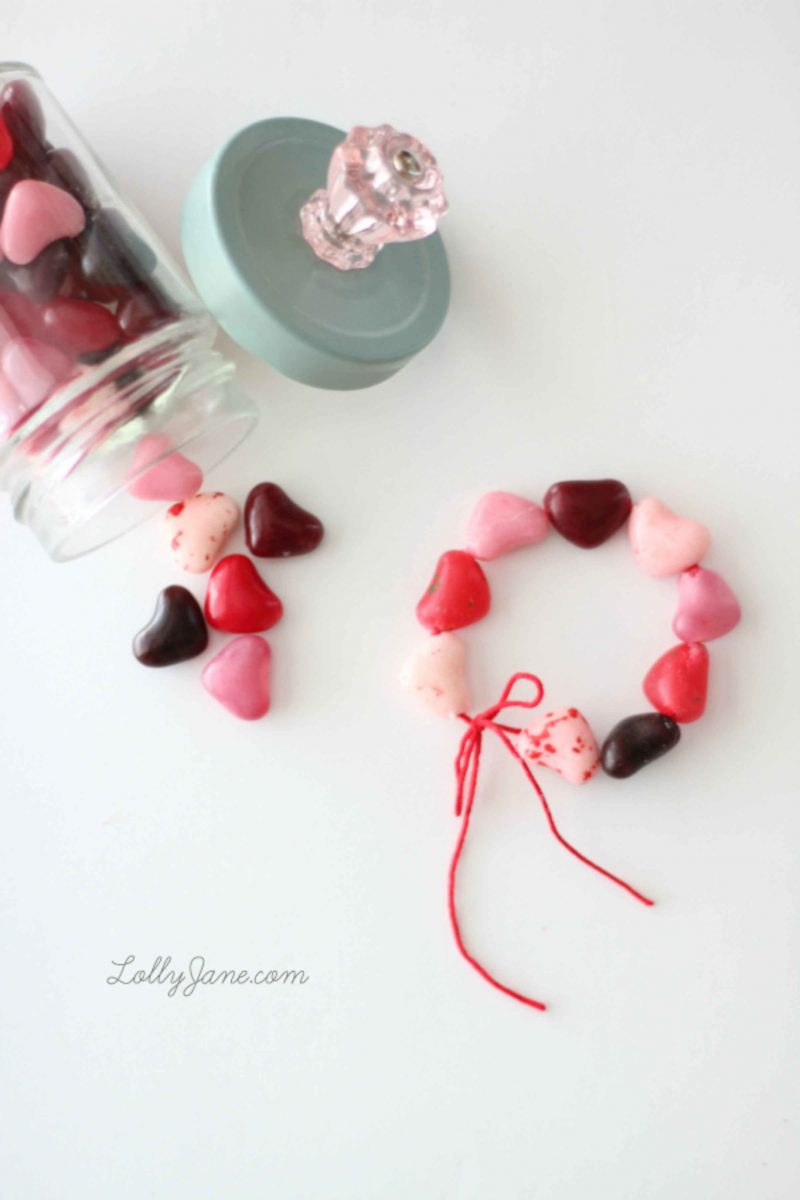 Edible Valentine's Day bracelets