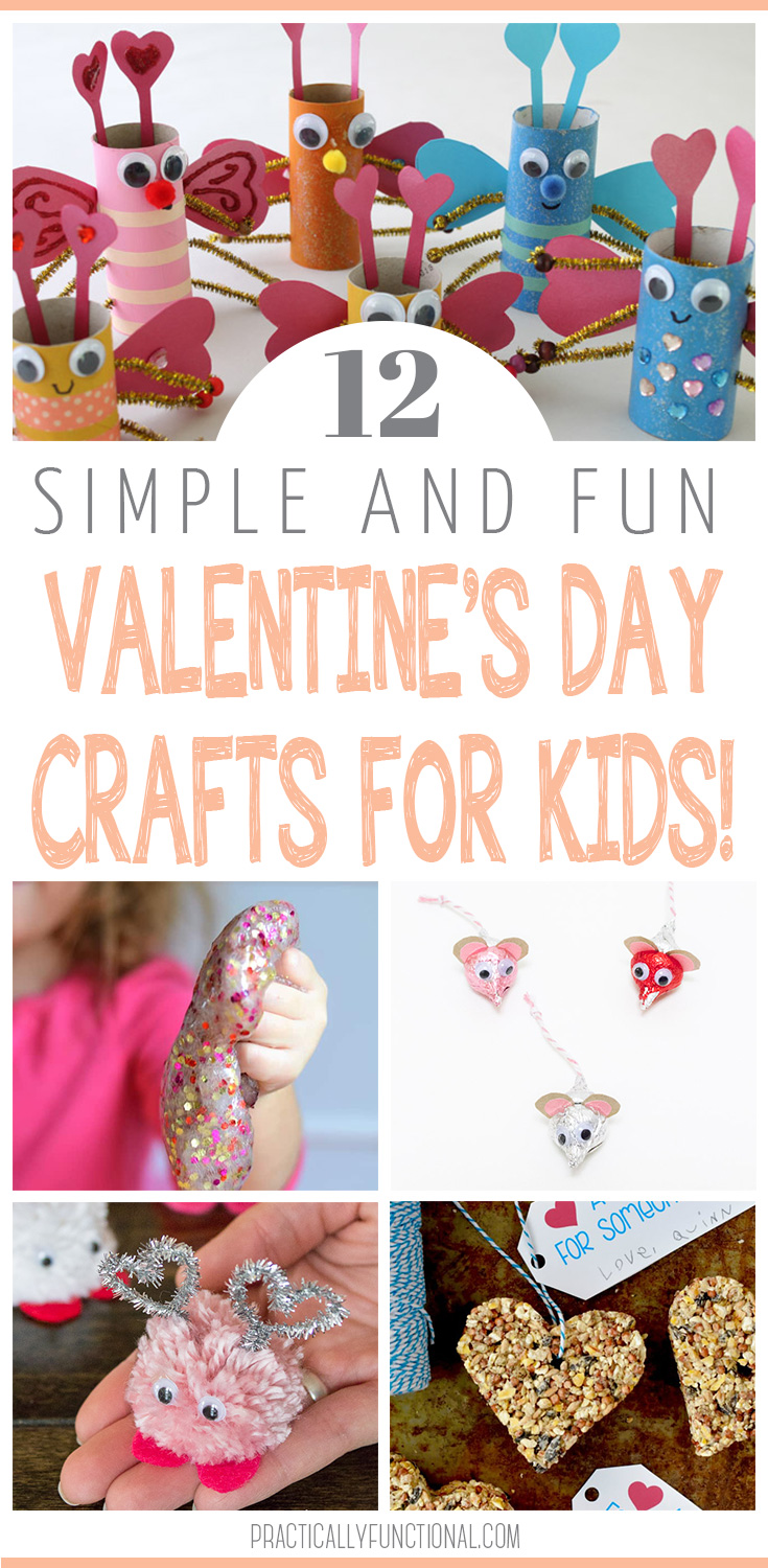 12 valentine 39 s day crafts for kids for Kids valentines day craft