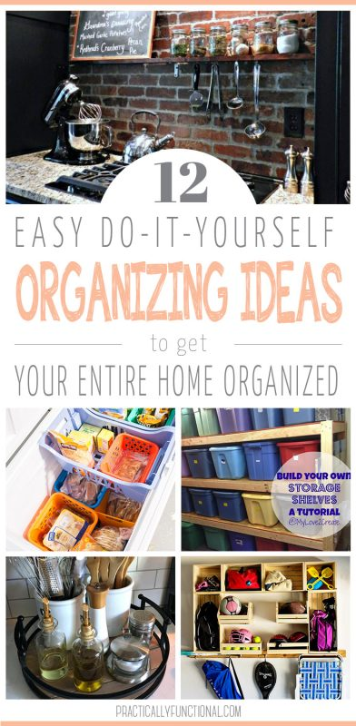 12 easy DIY ideas to organize your house