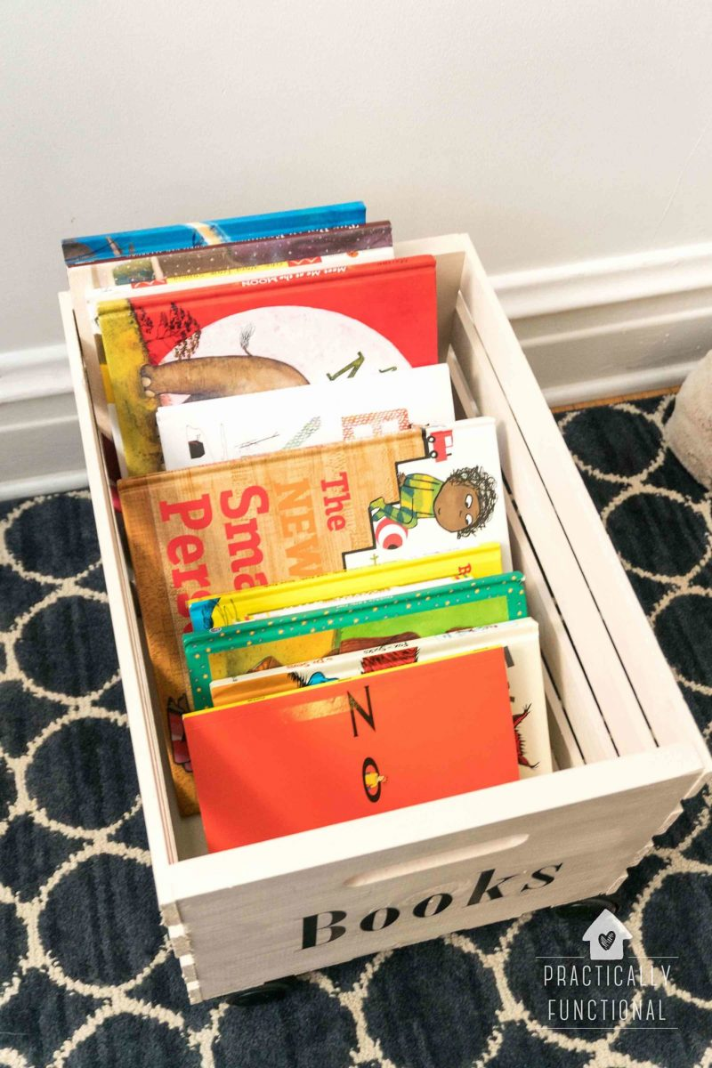 Diy Rolling Crate For Easy Book Storage