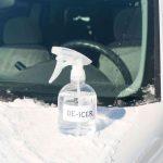 Homemade windshield de-icer spray