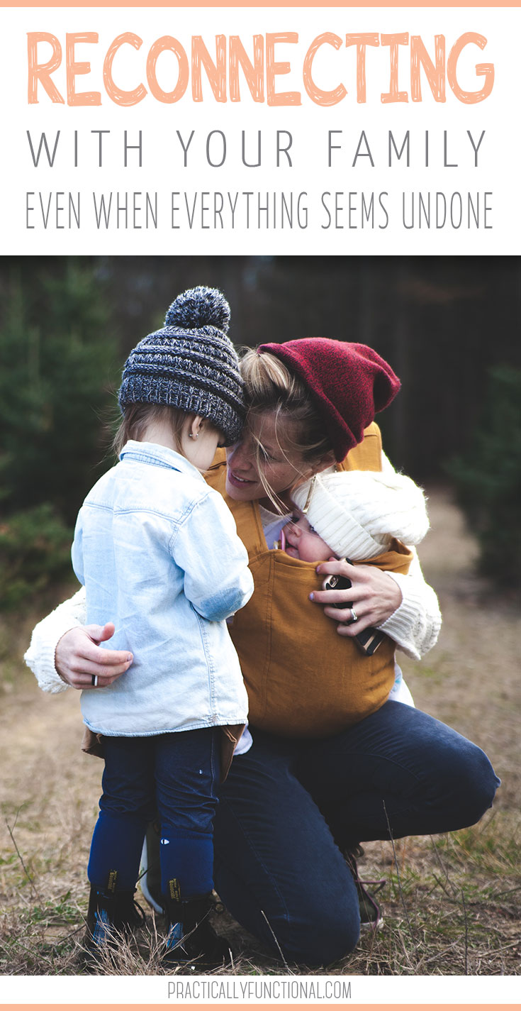 Do you feel completely disconnected from your family? If your home life balance is out of whack, it is time to reconnect with your family. Here are some realistic ways to approach this task and get back on the same wavelength as your family! #familygoals