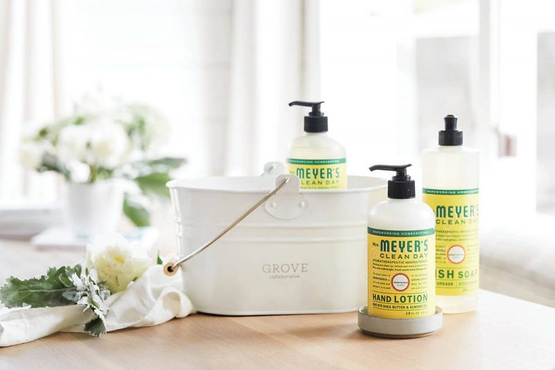 Free mrs. meyers cleaning products and caddy from grove collaborative practically functional 6