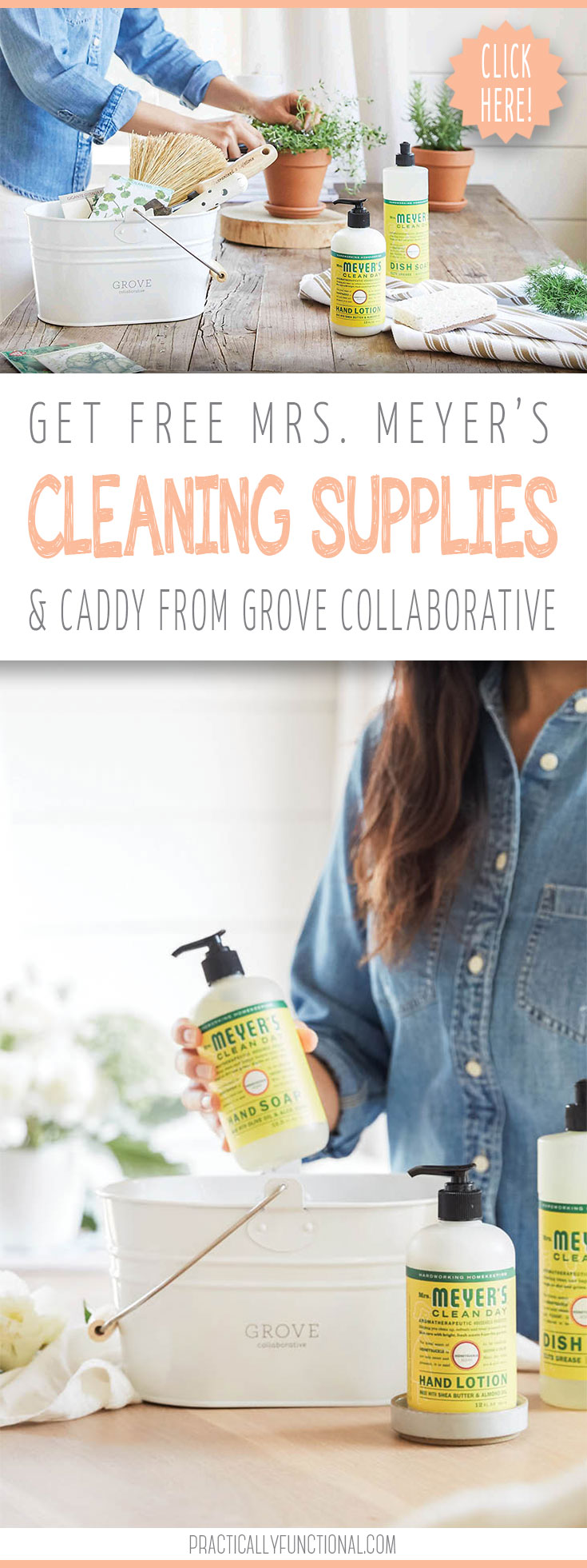 free mrs meyer 39 s cleaning products caddy from grove collaborative. Black Bedroom Furniture Sets. Home Design Ideas