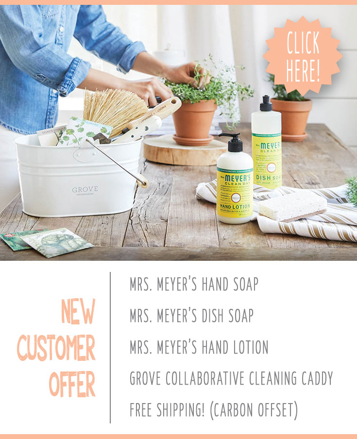 Freebie alert mrs. meyers cleaning products caddy from grove collaborative