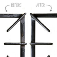 How to clean stove top grates without scrubbing, before and after