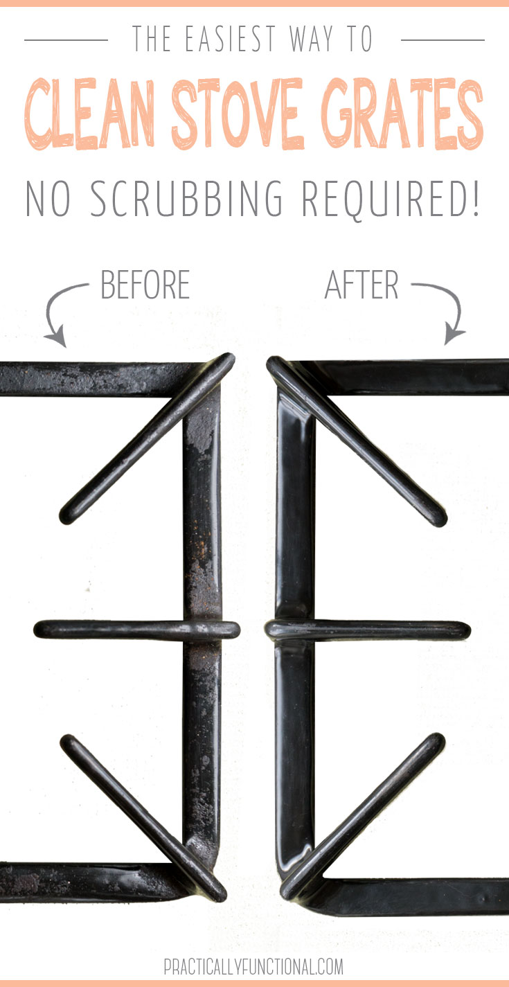 The Absolute Easiest Way To Clean Stove Top Grates Practically Functional