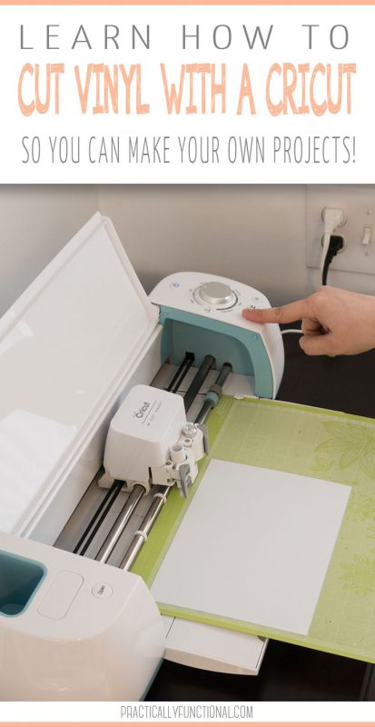 Learn how to cut adhesive vinyl with a Cricut machine