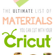What different materials can a Cricut machine cut