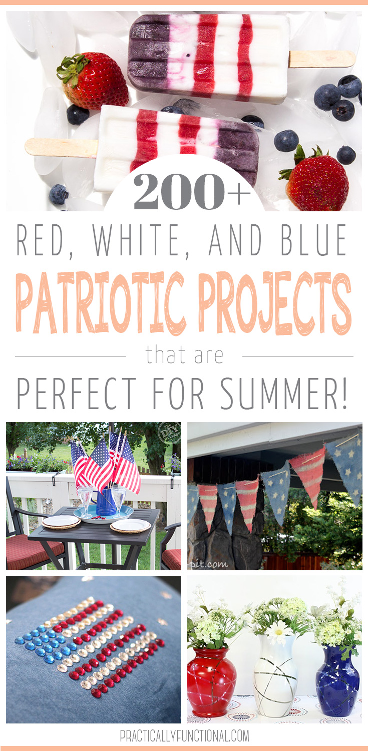 200 red white and blue patriotic projects