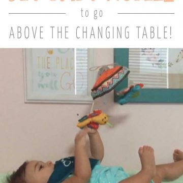 DIY Wall-Mounted Baby Mobile for the Changing Table