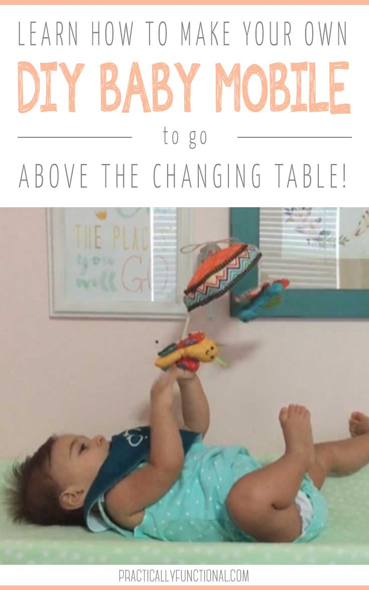 DIY wall mounted baby mobile for the changing table