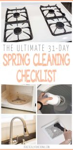The Ultimate 31-Day Spring Cleaning Checklist! (+ free printable)