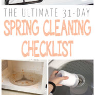 The ultimate 31-Day Spring Cleaning Checklist!