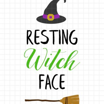 Resting Witch Face SVG Cut File