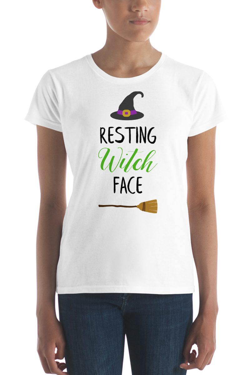 Resting witch face svg cut file image
