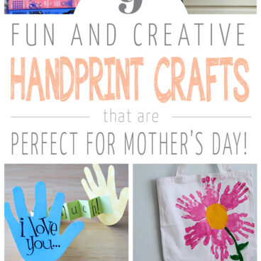 """data-pin-description=""""Looking for easy and cute Mother's Day Gifts that you can make with your little one? Check out these fun and creative handprint art ideas that make the perfect sweet gift for mom this year! #mothersday #mothersdaycraft"""""""