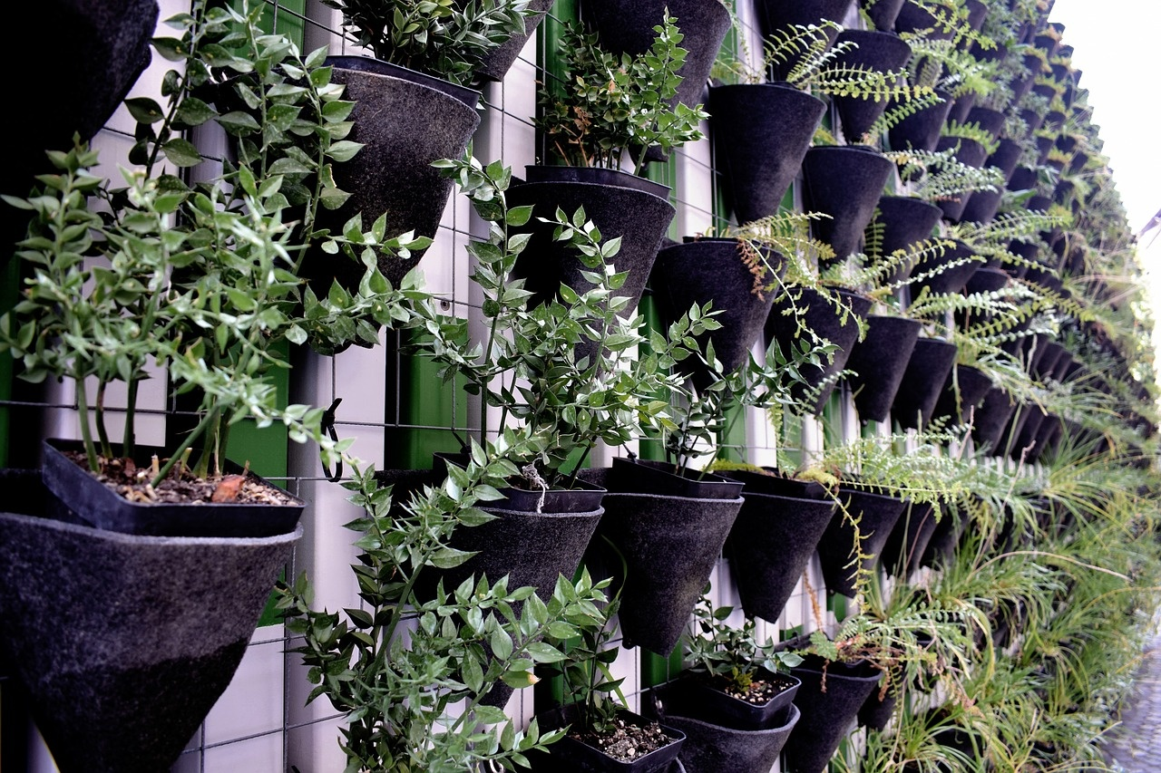 how to hang a create a vertical garden