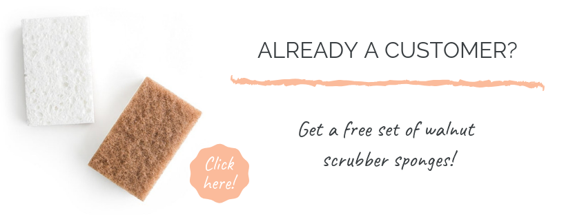 Free walnut scrubber sponges from grove collaborative