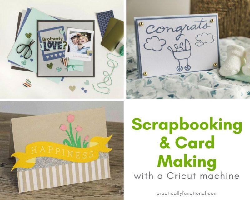 Scrapbooking card making with a cricut machine