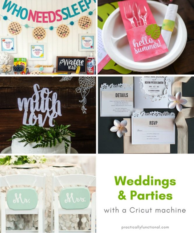 Weddings and party decor with a cricut