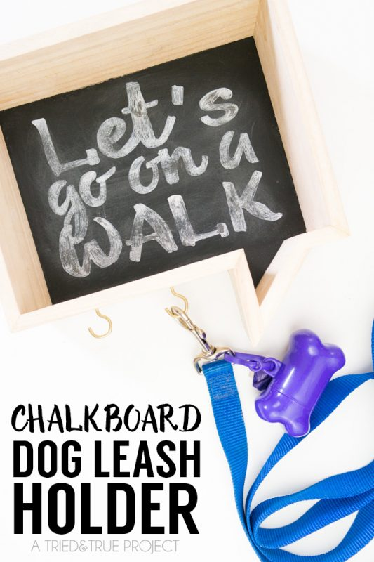 Chalkboard dog leash holder and 25 other simple diy pet projects anyone can do