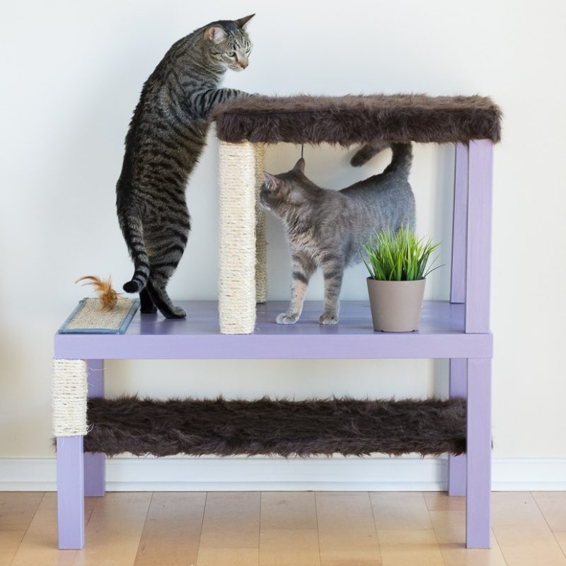 Diy cat condo from two ikea tables and 25 other simple diy pet projects anyone can do