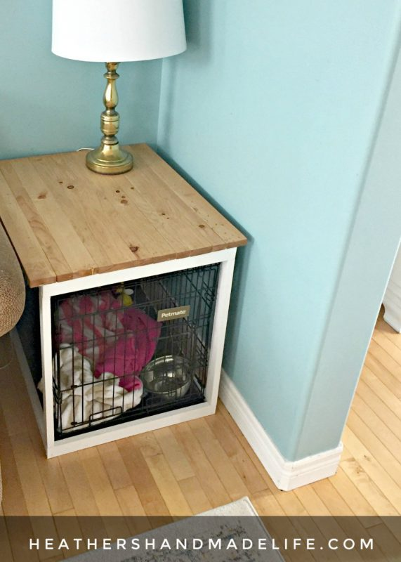 Diy dog crate cover table and 25 other simple diy pet projects anyone can do