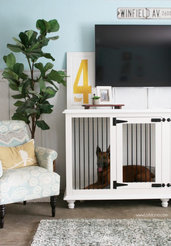 Diy dog crate tv console and 25 other simple diy pet projects anyone can do