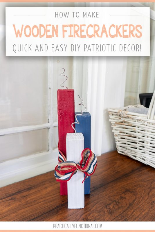 Diy patriotic wooden firecrackers for the 4th of july 1