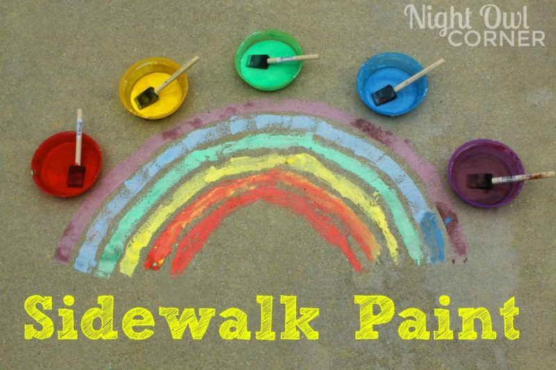 Diy sidewalk paint and 23 other fun summer activities for toddlers